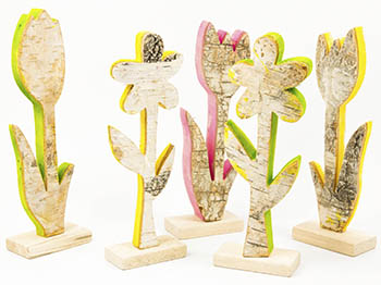 Rindenholz Figuren