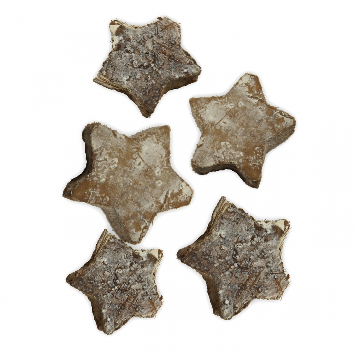 Cocosstern Klein in Stonewashed (ca. 3,5 cm - 100 Stück)