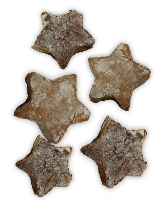 Cocosstern Klein in Stonewashed ( ca. 3,5 cm - 100 Stück )