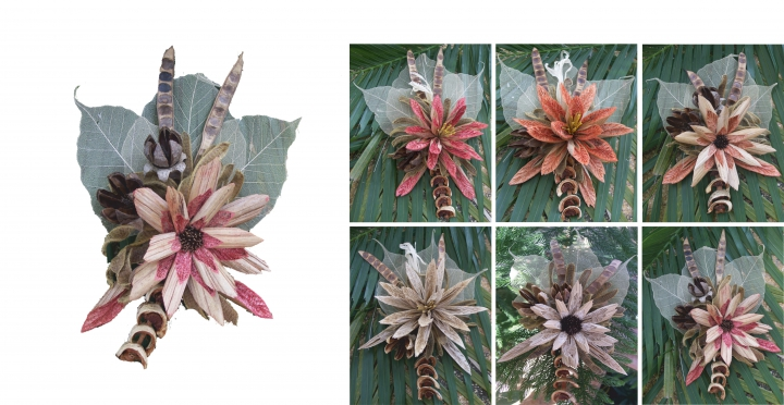 Sortiment Exotic Flower Natur ( 24 teilig )