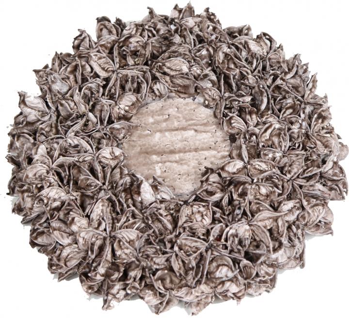 Baumwollfrucht Kreis gewachst Mocca Grey ( Ø 25cm )