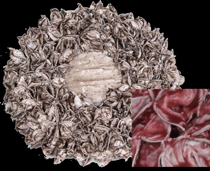 Baumwollfrucht Kreis gewachst Rot Antik ( Ø 25cm ) (6 Stück)