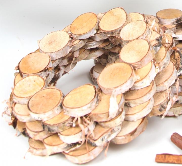 Birkenscheibenkranz Natur Klein ( Ø 30cm ) (5 Stück)