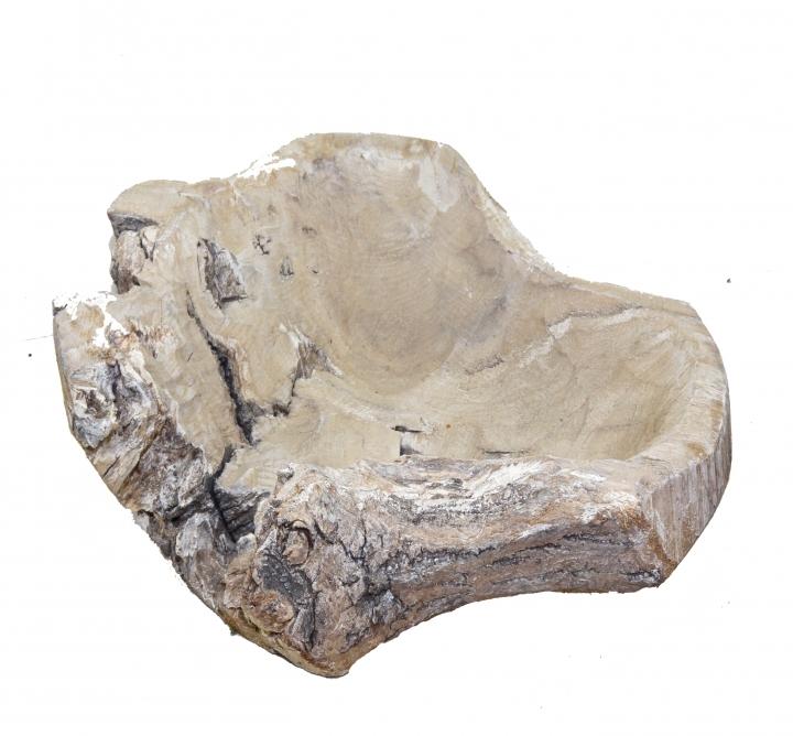 Wurzelholz Schale Rustika Klein in Stonewashed ( Ø 30cm )