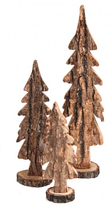 Rindenholz Baum Sortiment in Natur (  3 fach - 15 tlg. )