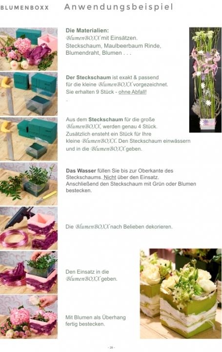 Blumen Boxx 2er Set in Natur mit Folie innen [10x10x12cm + 8x8x10cm]   (10 Stück)