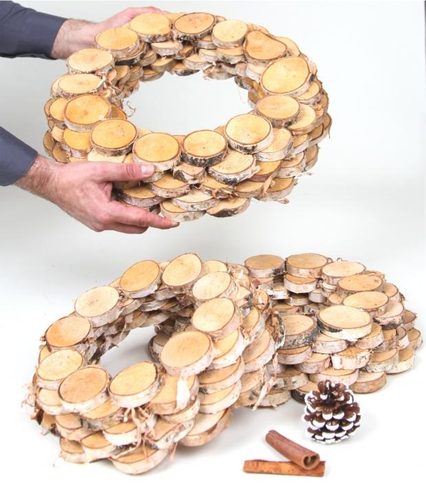 Birkenscheibenkranz Natur Mittel ( Ø 38cm ) (5 Stück)