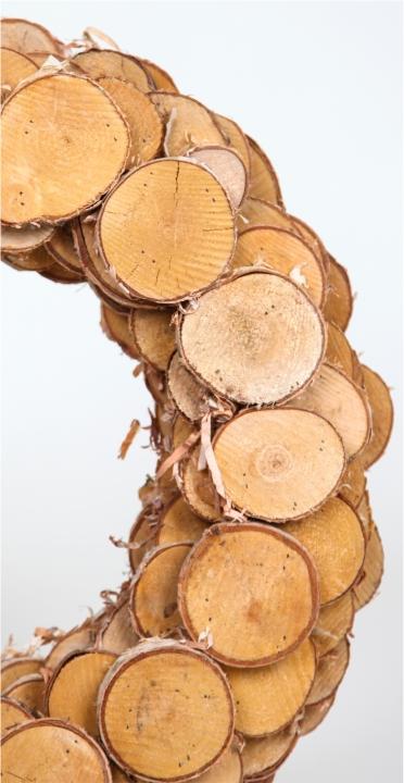 Birkenscheibenkranz Natur Groß ( Ø 45cm ) (5 Stück)