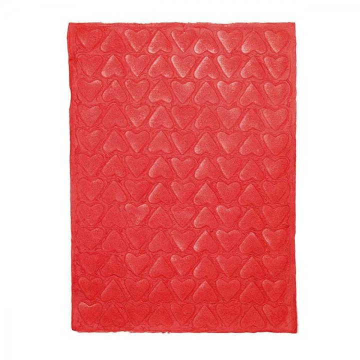 Set Handgeschöpftes Papier ´Farbe´ mit Motiven [80x55cm - 10 Stück]
