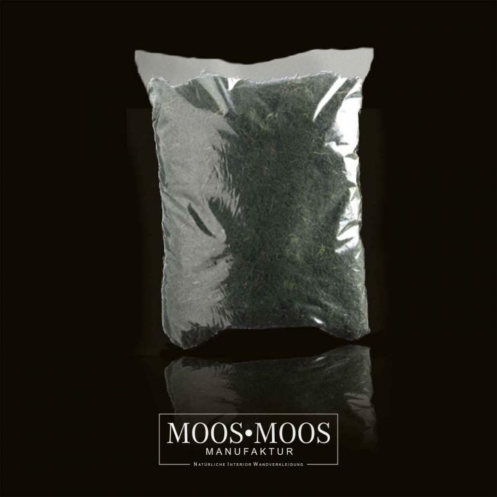 1kg Islandmoos gerupft präpariert und gefärbt ( lichtecht ) in Moosgrün / Dunkelgrün