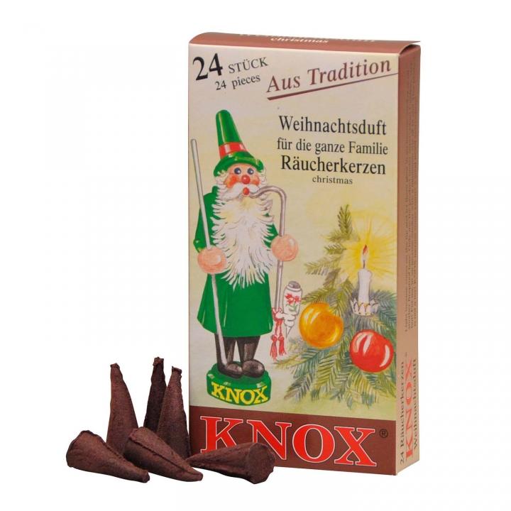 KNOX Räucherkerzen Räucherduft Weihnachtsduft 24 Stück/ Pck.