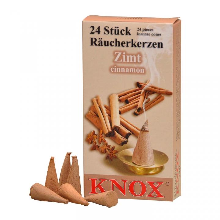 KNOX Räucherkerzen Räucherduft Zimt 24 Stück/ Pck.