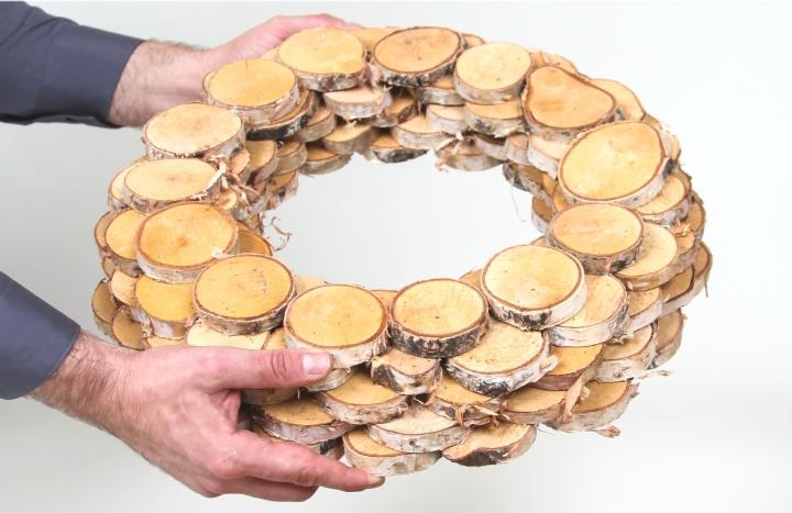 Birkenscheibenkranz Natur Groß ( Ø 45cm )