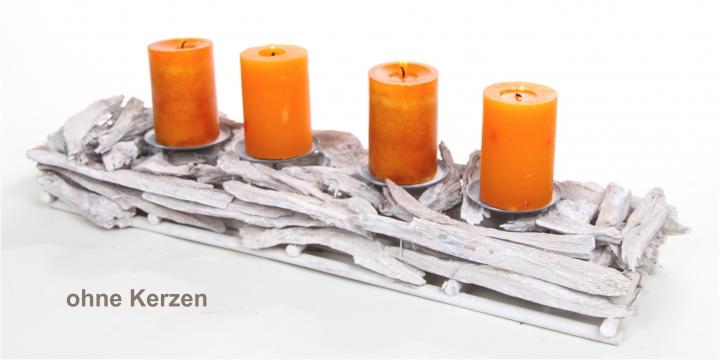 Kerzenständer aus Pfirsichwurzel in Stonewashed ( Ø 60cm lang )