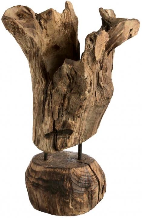 Wurzelholz Vase mit Ständer klein ca. 35cm hoch in Natur