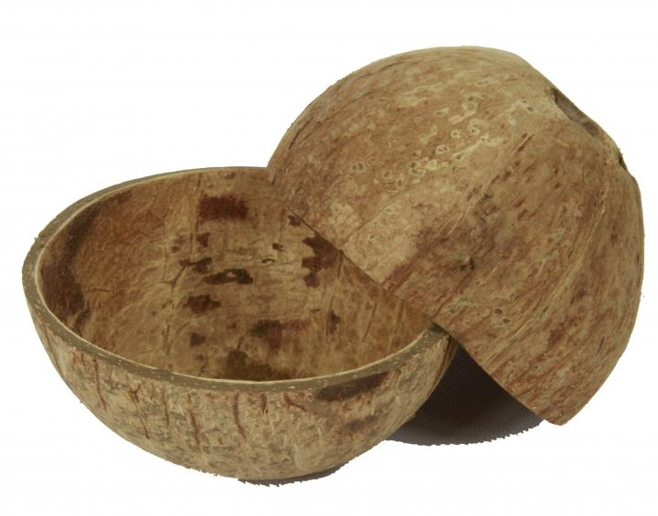 Kokosschale Becher in Natur ( ca. Ø 10-13cm )