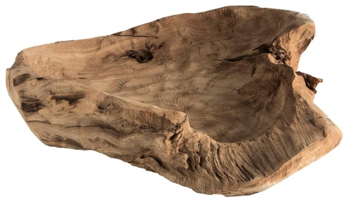 Wurzelholz Schale Rustika in Natur ( Ø 40cm ) (4 Stück)