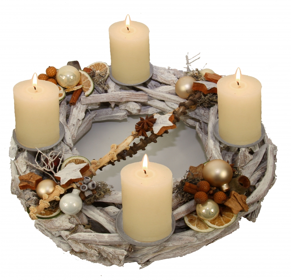 oppacher advent adventskranz in einer geschenkverpackung mit kerzen in verschiendene farben. Black Bedroom Furniture Sets. Home Design Ideas