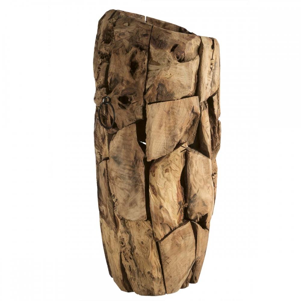 Bodenvase Holzvase Designvase Gross Ca H70cm In Natur