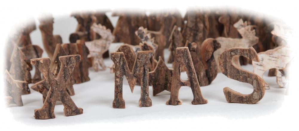 schriftzug x mas in holzbuchstaben in stonewashed und. Black Bedroom Furniture Sets. Home Design Ideas