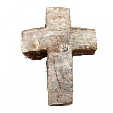 Cocoskreuz groß ca. 6 x 8,5cm in Stonewashed (50 Stück)