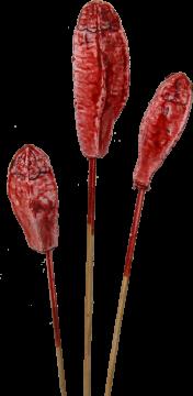 Mehogany am Stiel gewachst rot antik (500 Stück)