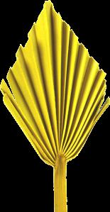 Palm Spear mit Stiel mini in Gelb (800 Stück)