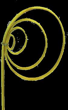 Cane Coil mini in Gelb (2 Stück)