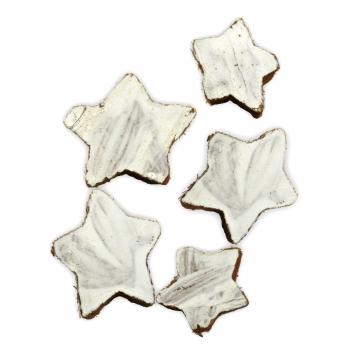 Cocosstern klein ca. 3,5cm in Weiß / Natur (100 Stück)