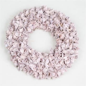 Baumwollfrucht Kranz gewachst in Viola Ice ( Ø 30cm ) (4 Stück)