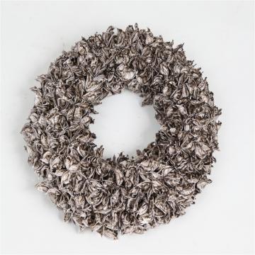 Baumwollfrucht Kranz gewachst in Mocca Grey ( Ø 30cm )