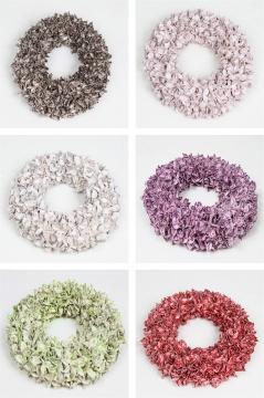 Sortiment Baumwollfrucht Kranz gewachst in 6 Farben
