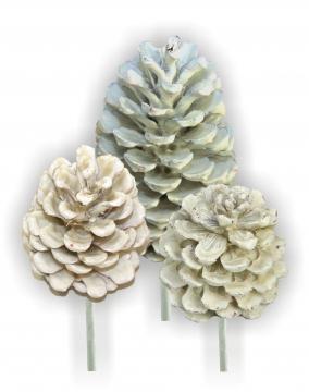 Sortiment Zapfen am Stab gewachst creme weiß (50tlg.)