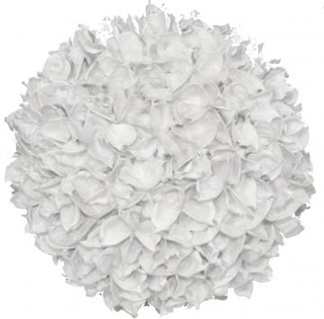 Baumwollfruchtkugel gewachst in Creme Weiß ( Ø 14cm ) (6 Stück)