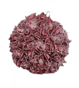 Baumwollfrucht Kugel Ø 14cm gewachst in Rot Antik