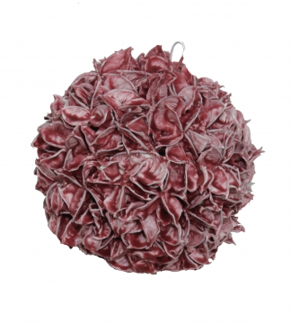 Baumwollfrucht Kugel Ø 18cm gewachst in Rot Antik