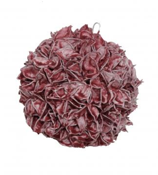 Baumwollfruchtkugel 18cm gew. rot antik