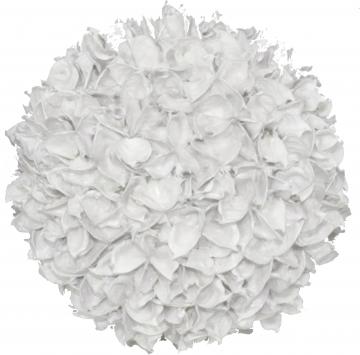 Baumwollfruchtkugel 22cm gew. creme weiß