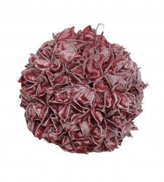 Baumwollfruchtkugel gewachst in Rot Antik ( Ø 22cm )
