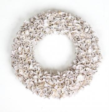 Baumwollfrucht Kranz in Weiß Glitter    (4 Stück)