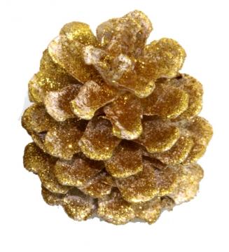 Weihnachtszapfen gewachst in Gold Glitter (300 Stück)
