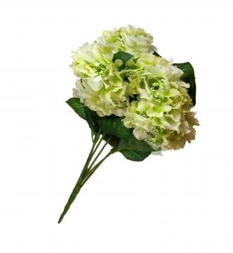Kunstblume Hortensien Kunststrauß in Weiß (18 Stück)