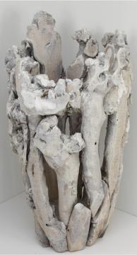 Wurzelholz Vase groß ca. 55cm hoch in Stonewashed   (2 Stück)