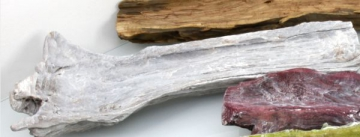 Wurzelholz Schale ca. 60cm lang in Frosted Blackwashed