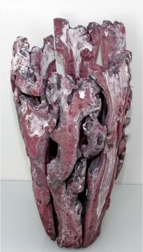 Wurzelholz Vase mittel ca. 55cm frosted bordeaux