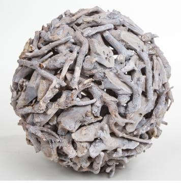 Kugel aus Wurzelholz in Frosted Stonewashed ( Ø40cm )