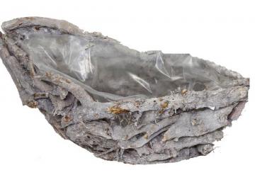 Pflanzgefäß Schiffchen klein ca. 35cm stonewashed