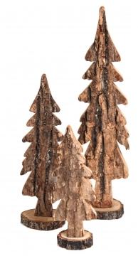Rindenholz Baum Sortiment 3 fach in Natur [15 tlg.]