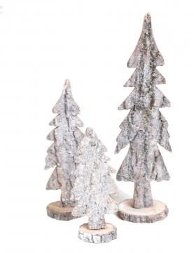 Rindenholz Baum Sortiment 3 fach in Stonewashed [15 tlg.]