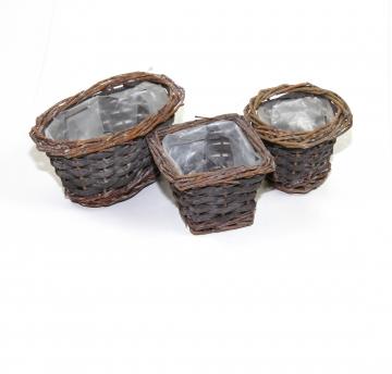 Set Kleinkorb in Stonewashed ( je 12 Stück - oval, rund & eckig )